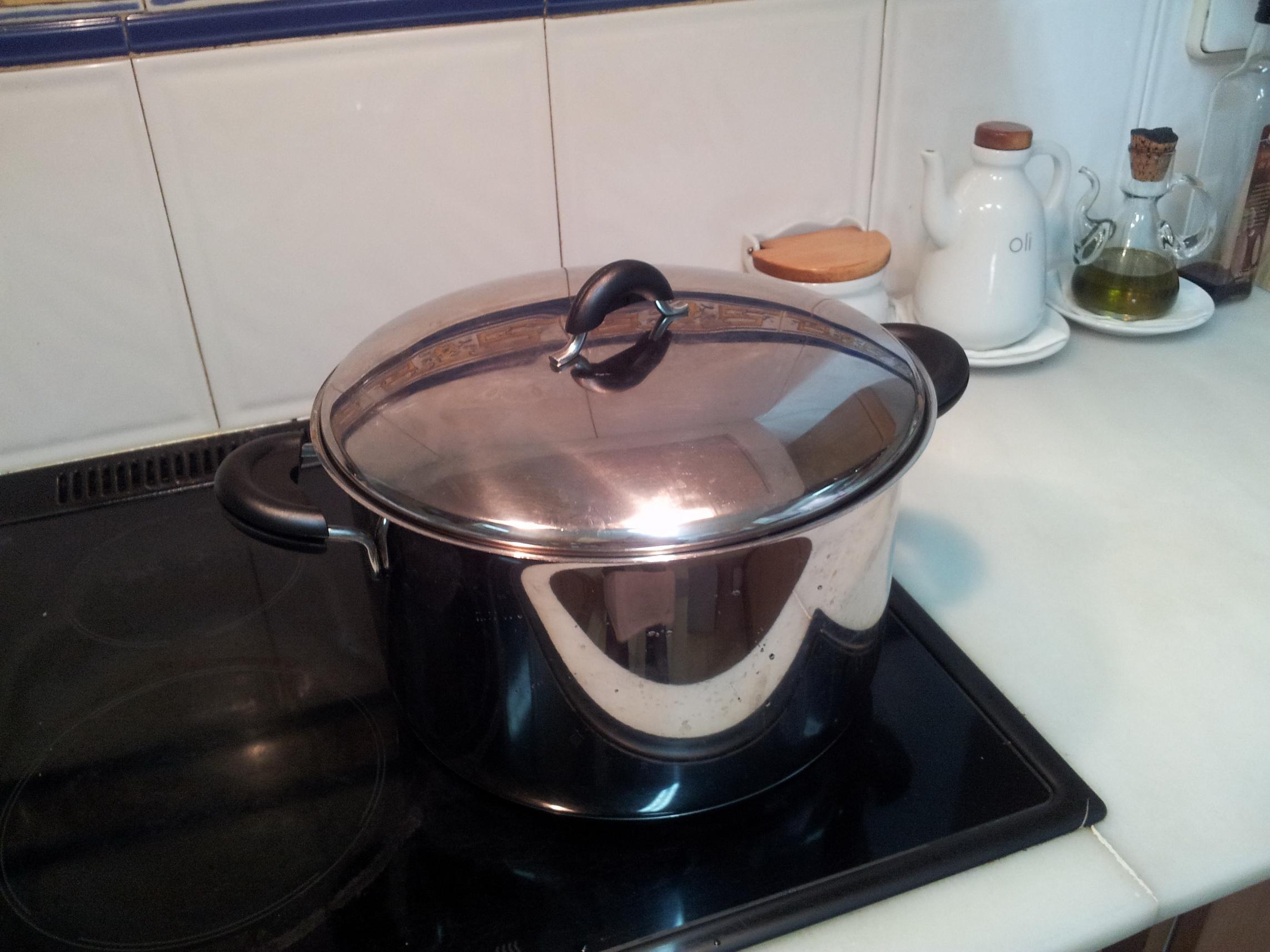 Recepta: Puré de carbassó i restes de caldo amb llom