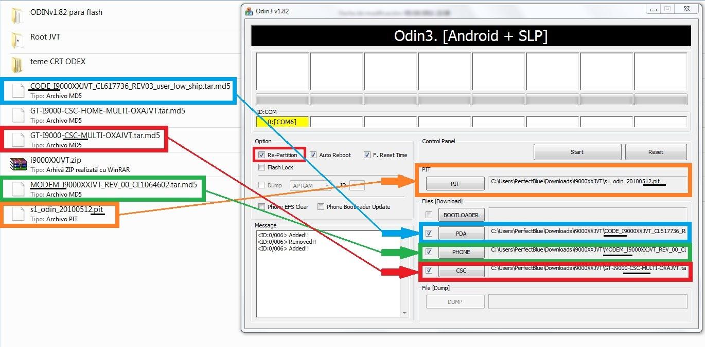 Provant la 2.3.5 JVT per Samsung Galaxy S i9000